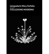 """LAMPADARIO 5 LUCI """"MARY FARFALLA"""" COLLEZIONE MODERNA"""