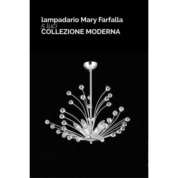 LAMPADARIO 5 LUCI COLLEZIONE FARFALLA