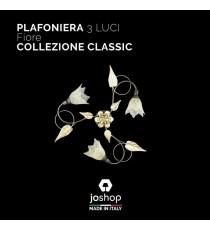 """PLAFONIERA 3 LUCI"""" FIORE"""" COLLEZIONE CLASSIC"""