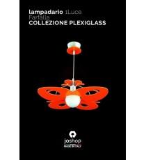 """LAMPADARIO  1 LUCE"""" FARFALLA """" COLLEZIONE IN PLEXIGLASS"""