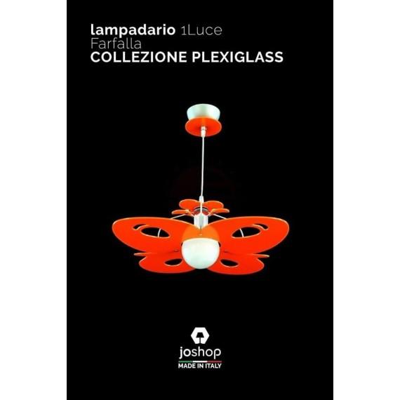 LAMPADARIO 1 LUCE COLLEZIONE FARFALLA
