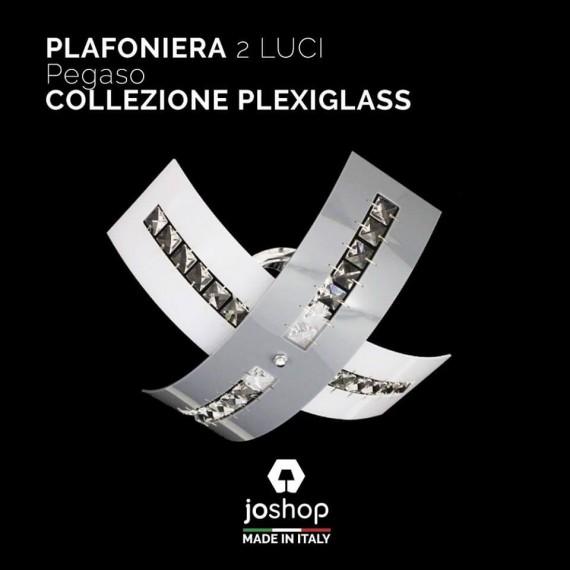 PLAFONIERA 2 LUCI COLLEZIONE PEGASO