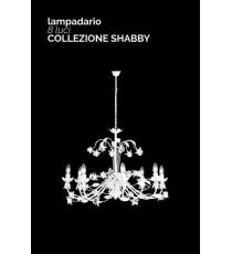 """LAMPADARIO 8 LUCI"""" ROOSE """"COLLEZIONE SHABBY"""