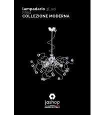 """LAMPADARIO 3 LUCI"""" MINA"""" COLLEZIONE MODERNA"""