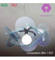 """LAMPADARIO 1 LUCE """"BILIA"""" COLLEZIONE IN PLEXIGLASS"""