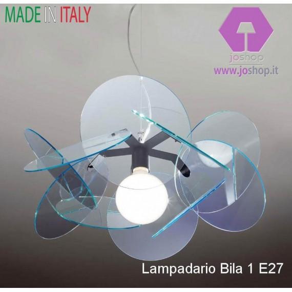 LAMPADARIO BILIA 1 LUCE COLLEZIONE IN PLEXIGLASS